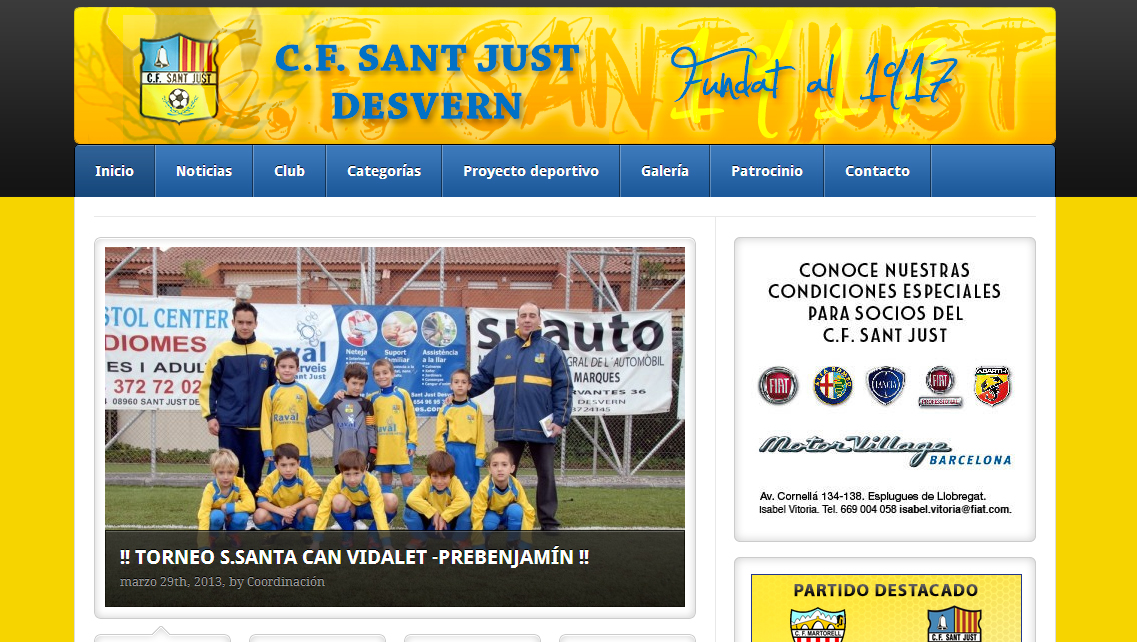 Diseño web Sant Just